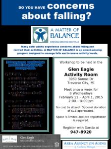 """FW: Glen Eagle hosting """"A Matter of Blance"""""""